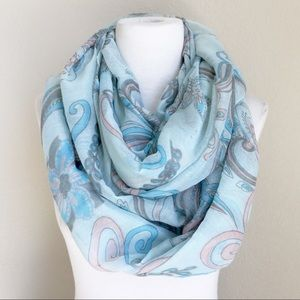 Accessories - Large blue and pink floral infinity scarf